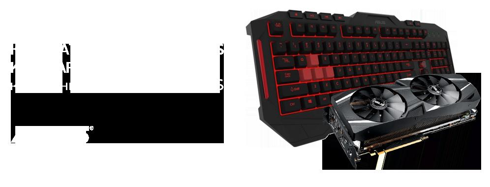 Клавиатура Asus Cerberus KB MKII в подарок к видеокартам Asus GeForce RTX 20-серии
