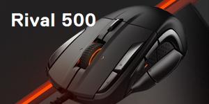 Rival 500 – это первая 15-кнопочная мышь для игр жанров MOBA/MMO, разработанная с учетом естественных движений вашей руки.