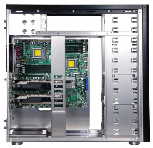 Lian Li PC-A77 inside
