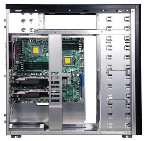 Lian Li PC-A77 inside