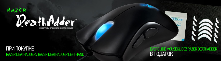 Razer Death Adder + Everglide Mouseglidez