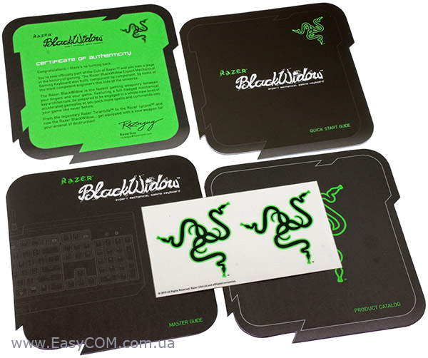 Razer BlackWidow упаковка
