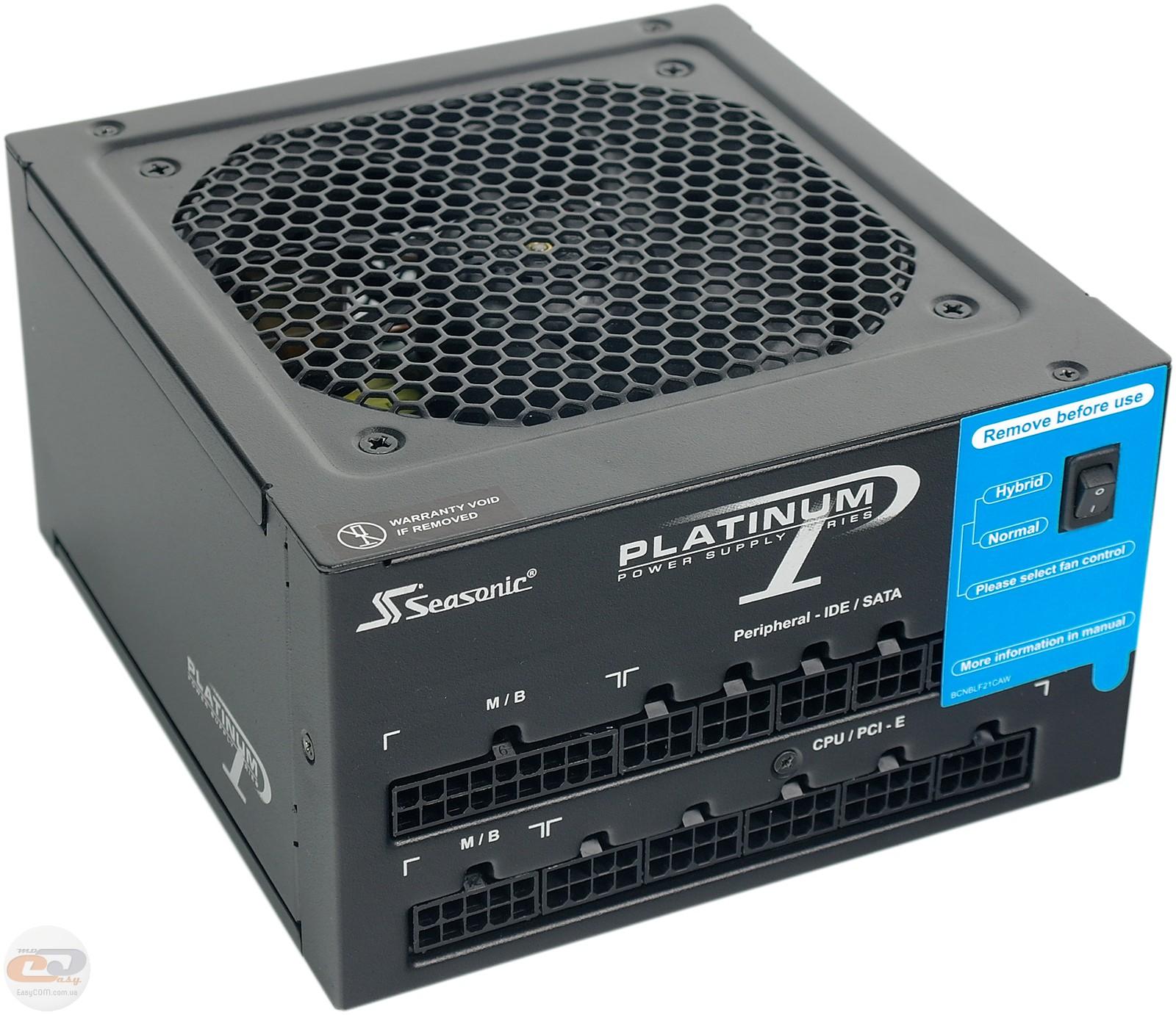 Обзор и тестирование блока питания Seasonic Platinum 760