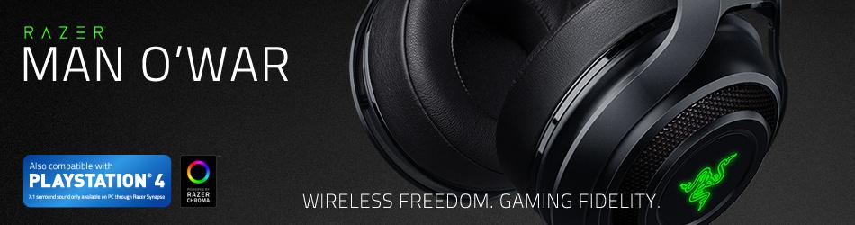 Беспроводная гарнитура ManO'War с панорамным звуком для свободы и непрерывной игры