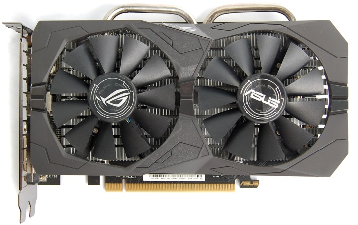 вид спереди ASUS ROG Strix Radeon RX 560 O4GB Gaming