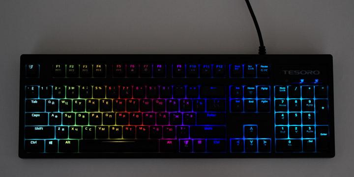Tesoro Excalibur Spectrum подсветка