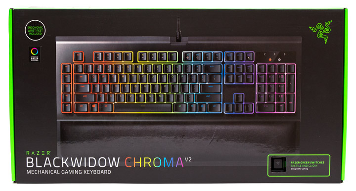 Razer BlackWidow Chroma V2 упаковка