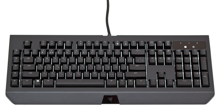 Razer BlackWidow Chroma V2 вид сверху
