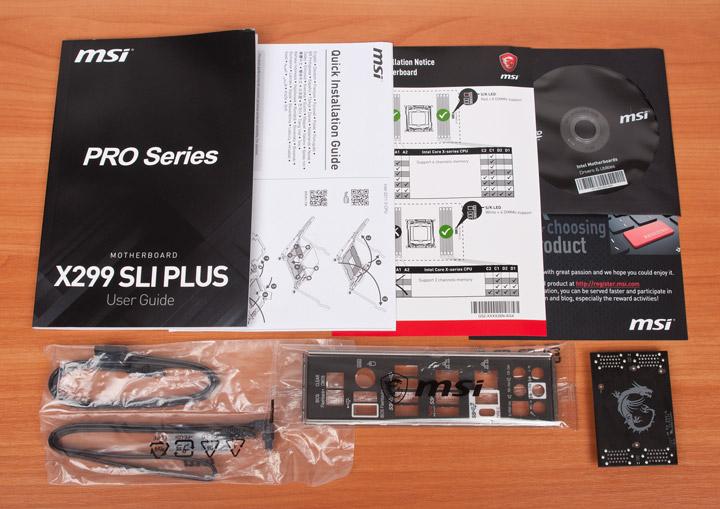 MSI X299 SLI Plus комплектация