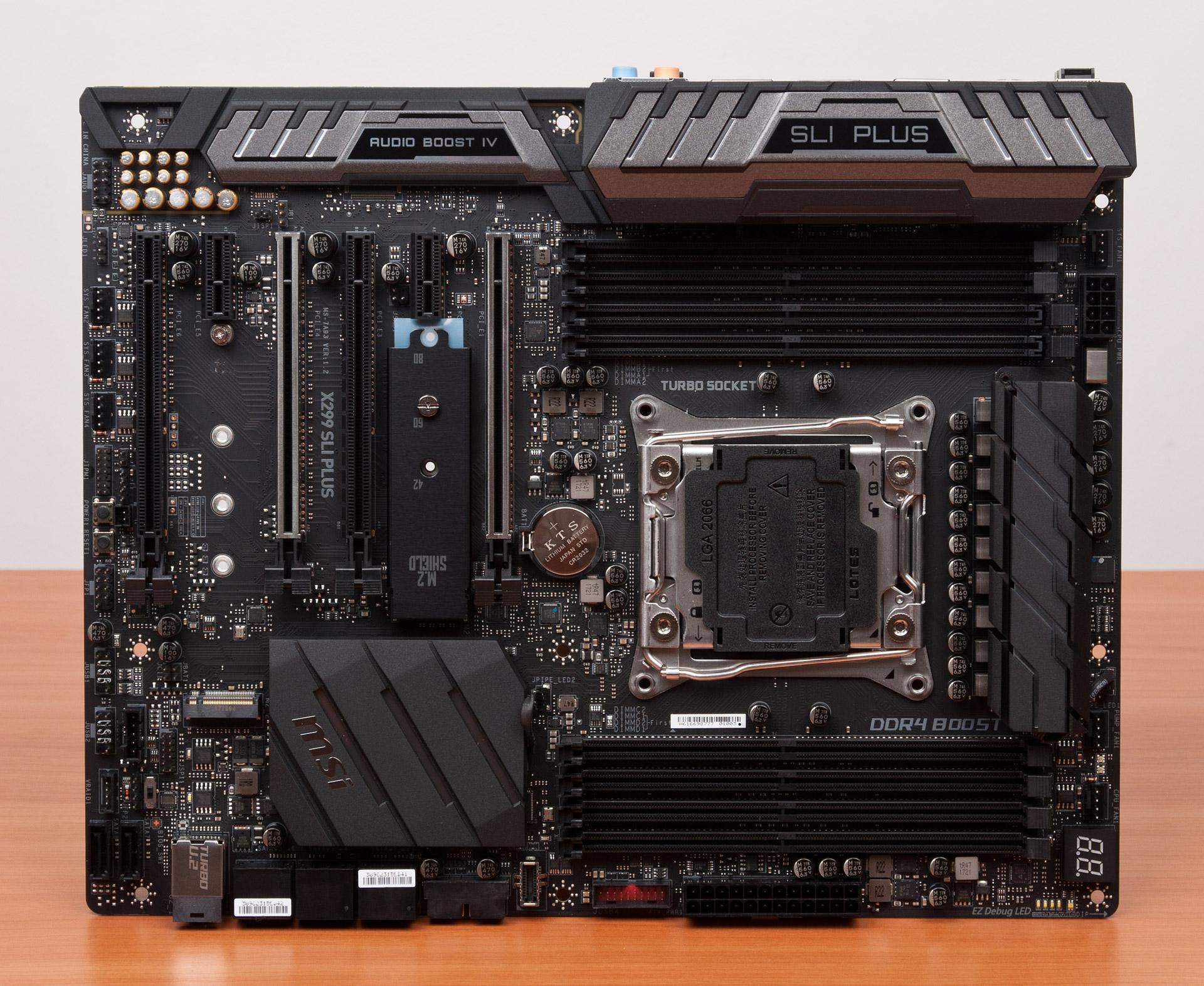 Внешний вид MSI X299 SLI Plus