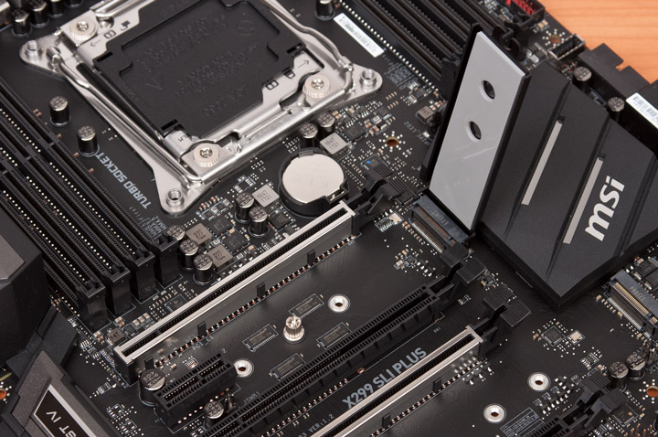 Разьемы M2 на MSI X299 SLI Plus