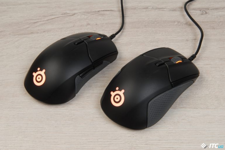 SteelSeries Rival 310 и Sensei 310 вид сзади справа