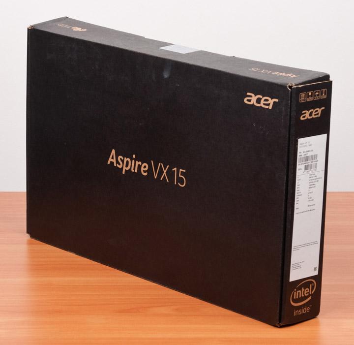 Acer Aspire VX15 упаковка