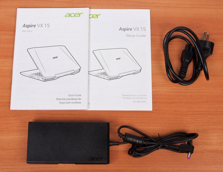 Acer Aspire VX15 комплектация