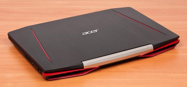 Acer Aspire VX15 вид сзади с закрытой крышкой