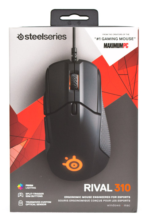 SteelSeries Rival 310 упаковка