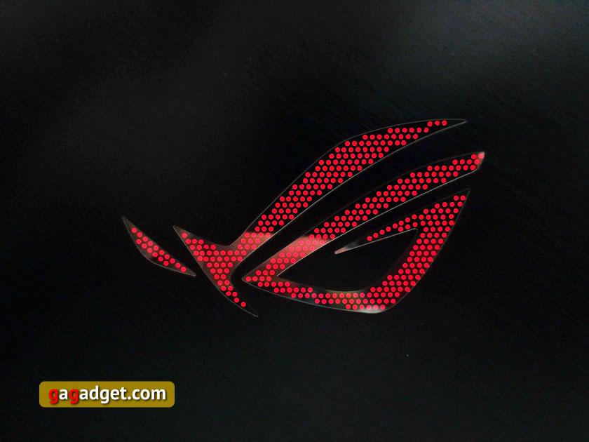 ASUS ROG Zephyrus GX501 подсветка задней крышки