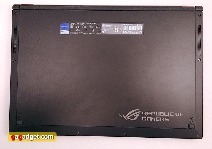 ASUS ROG Zephyrus GX501 рабочая поверхность