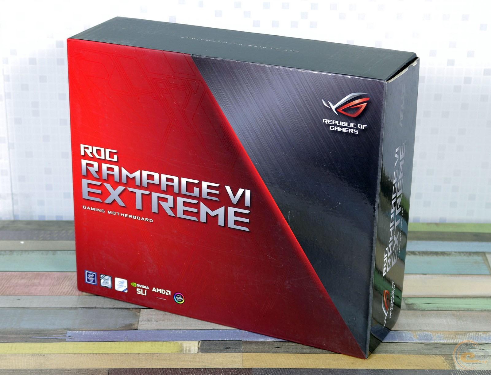 ASUS ROG RAMPAGE VI EXTREME упаковка