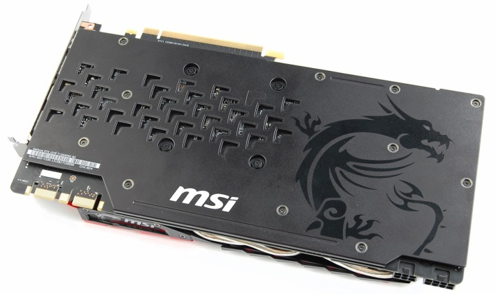 MSI GeForce GTX 1070 Ti вид сзади