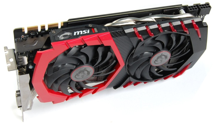 MSI GeForce GTX 1070 Ti вид сверху