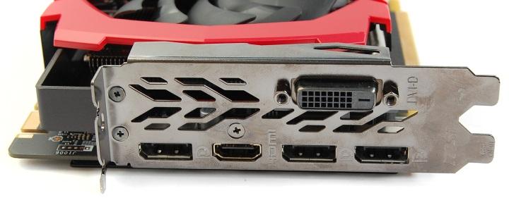 MSI GeForce GTX 1070 Ti вид на заднюю панель