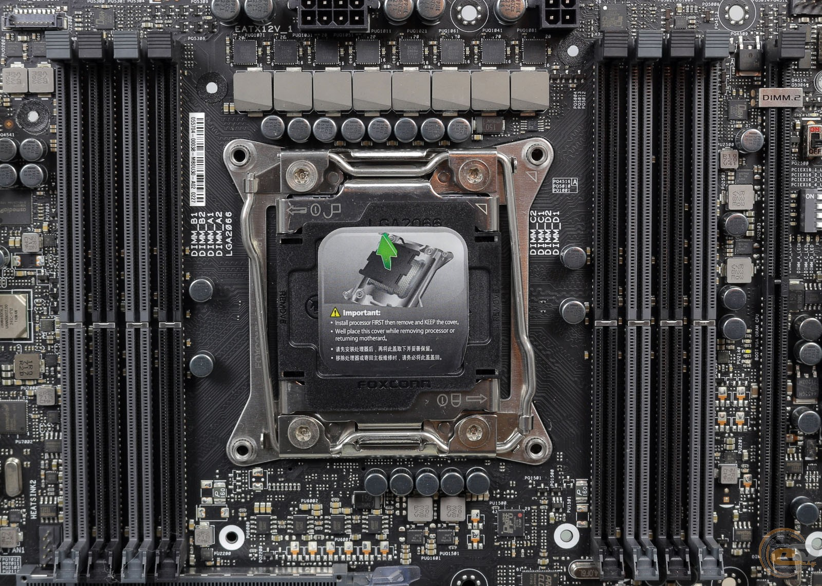 ASUS ROG RAMPAGE VI EXTREME слоты DIMM