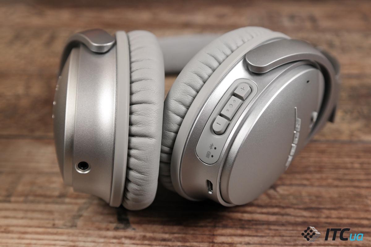 Bose QuietComfort 35 вид на кнопки управления
