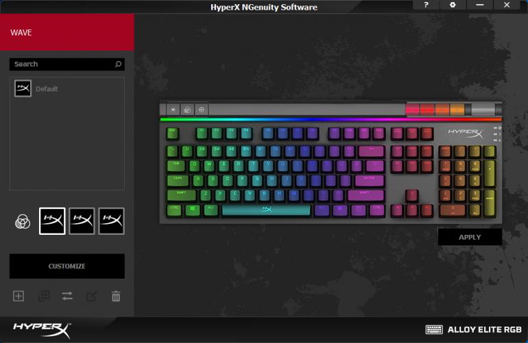 HyperX Alloy Elite RGB ПО