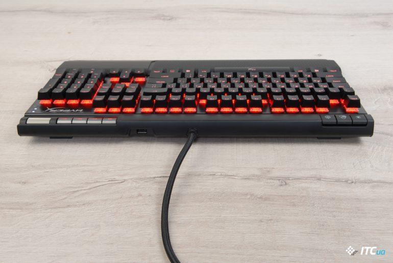 HyperX Alloy Elite RGB вид сзади