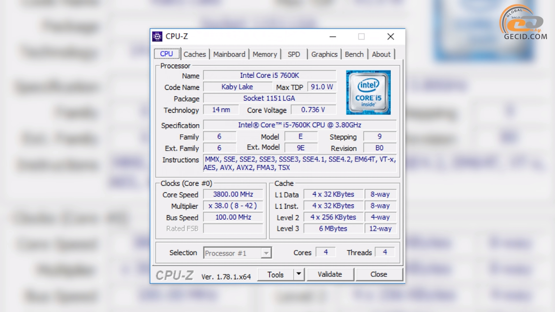 cpu-z i5-7600k