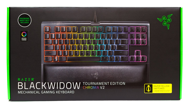 Razer BlackWidow Tournament Edition Chroma V2 упаковка