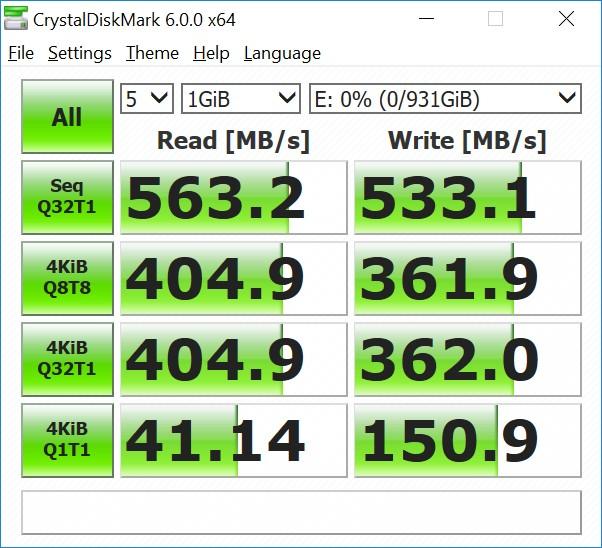 Samsung 860 EVO 1 ТБ (MZ-76E1T0BW) CrystalDiskMark