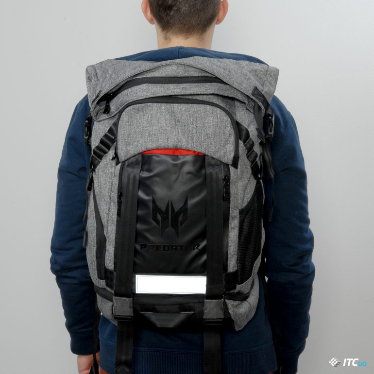 Acer Predator Gaming Rolltop Backpack Спинка и лямки