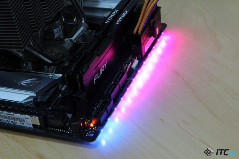 ASUS ROG STRIX Z370-I GAMING подсветка