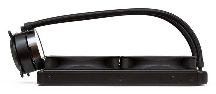 NZXT Kraken X62 толщина с вентиляторами