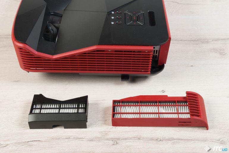 Acer Predator Z850 вид фильтры