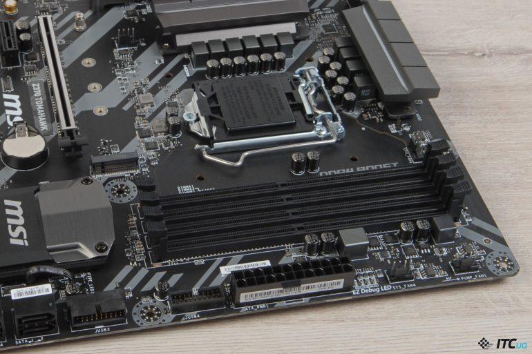 MSI Z370 TOMAHAWK слоты оперативной памяти