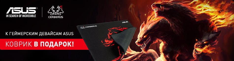 К геймерской периферии Asus ковер в подарок!