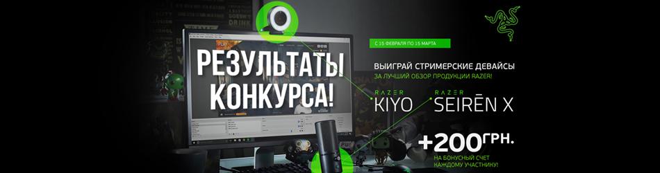 Обзор продукции Razer - результаты конкурса!