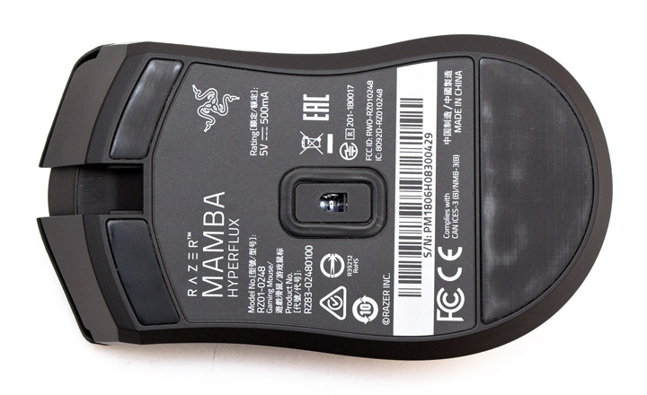 Razer Mamba HyperFlux мышь вид на основание