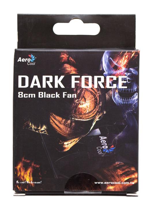 Aerocool Dark Force 8cm Black Fan упаковка