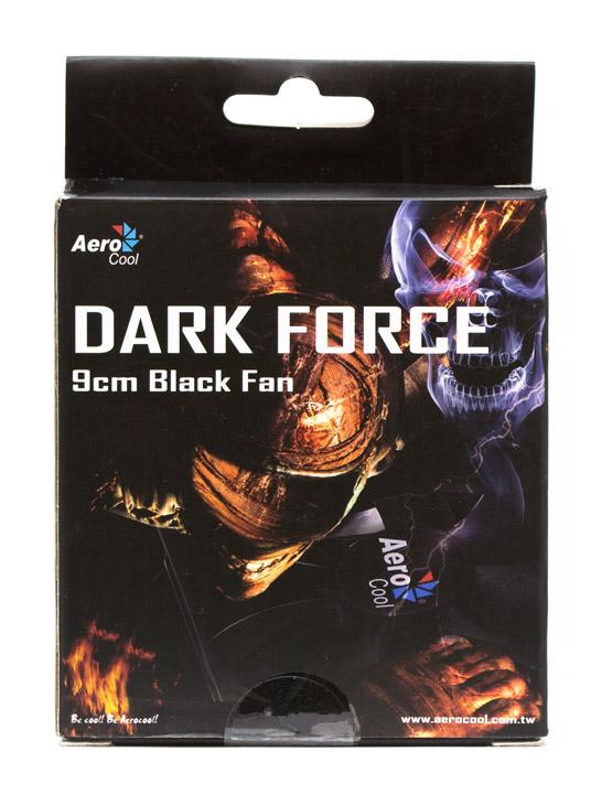 Aerocool Dark Force 9cm Black Fan упаковка