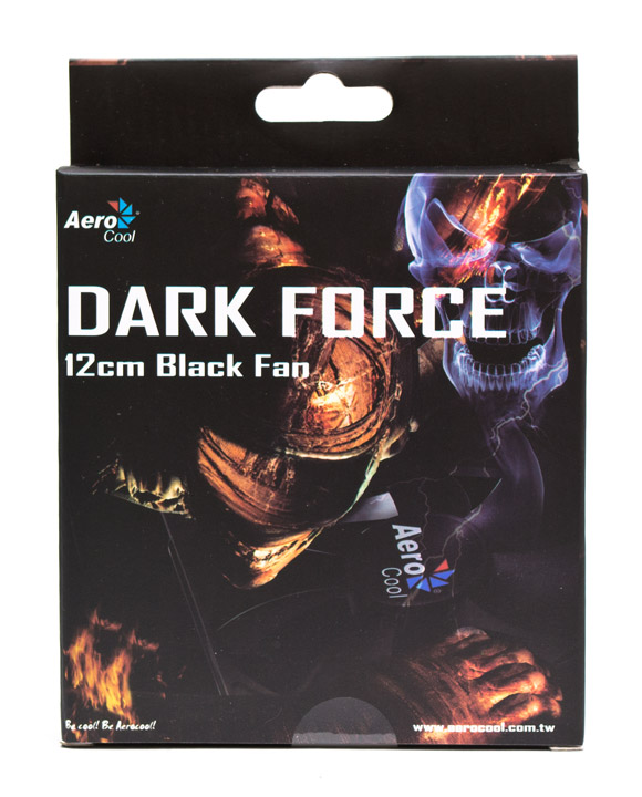 Aerocool Dark Force 12cm Black Fan упаковка