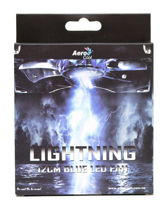 Aerocool Lightning 12cm Blue Led Fan упаковка