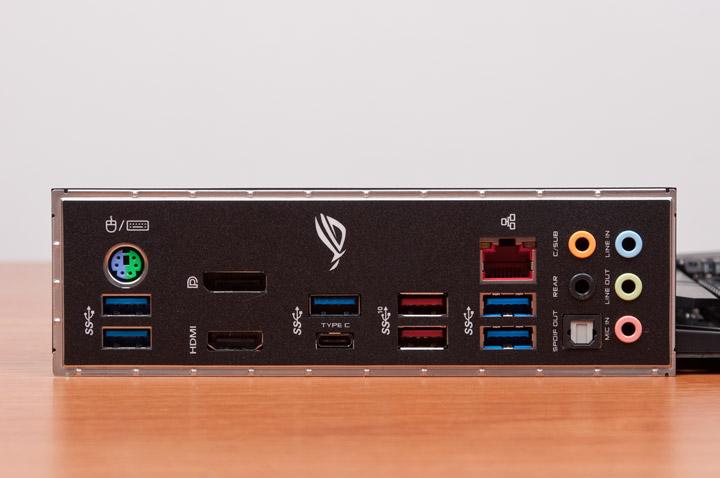 ASUS ROG Strix X470-F задняя панель