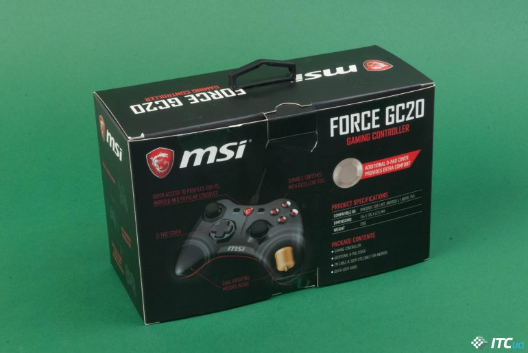 MSI Force GC20 упаковка