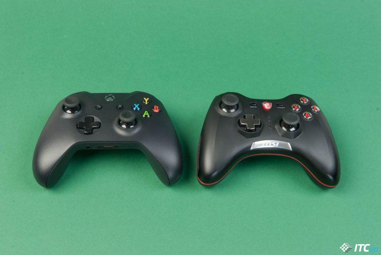MSI Force GC20 и Xbox One X вид сверху