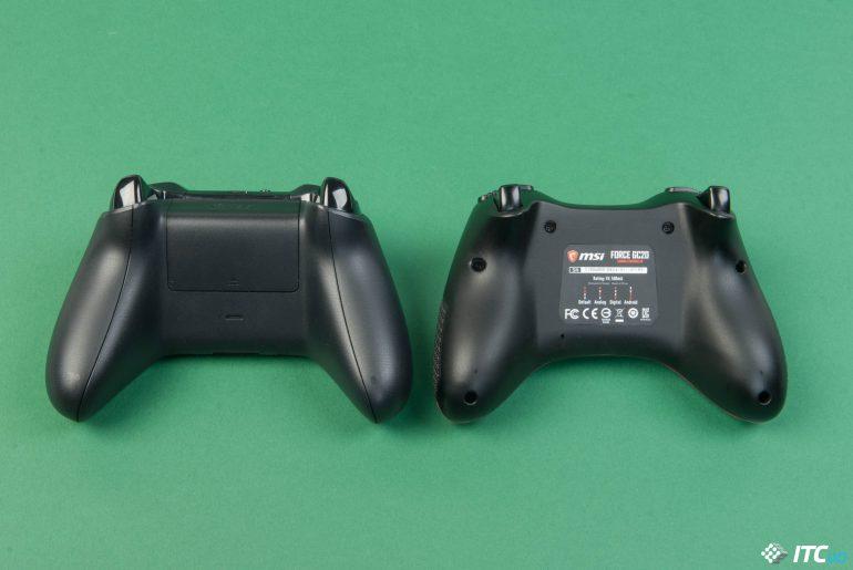 MSI Force GC20 и Xbox One X вид снизу