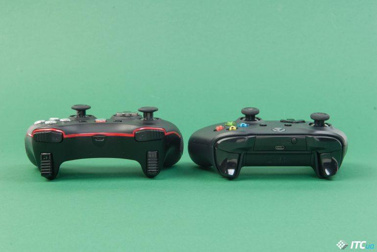 MSI Force GC20 и Xbox One X вид сзади